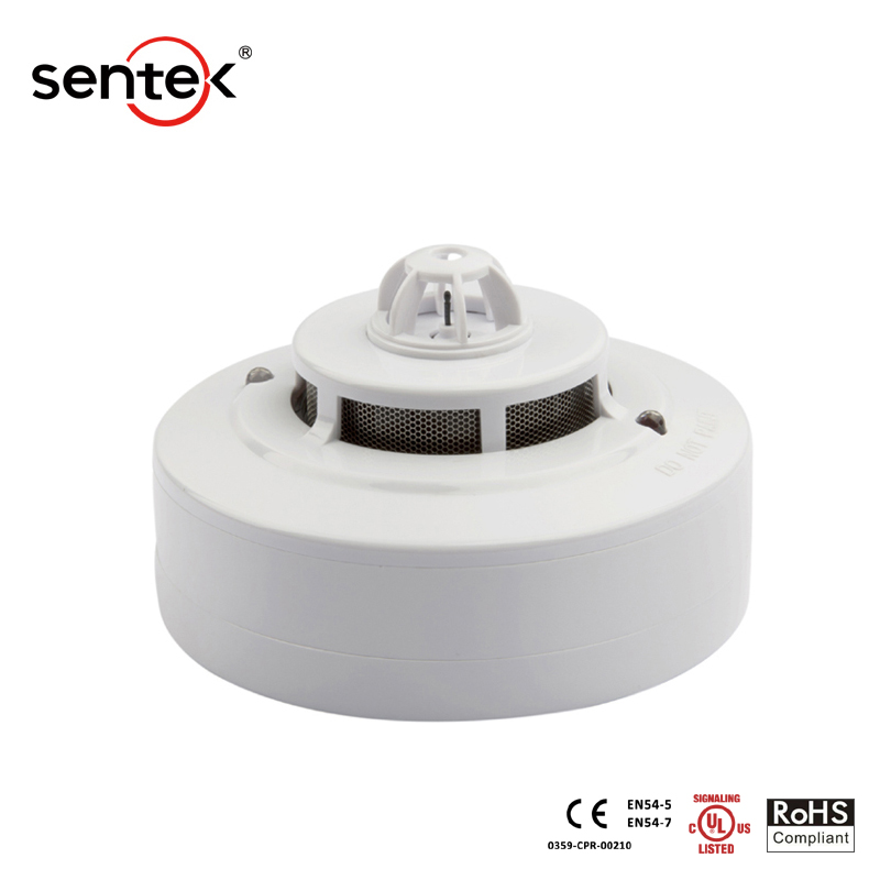 OEM ODM Cheap 2 Wire Smoke Detector Photoelectric Smoke Alarm with Remote LED Output EN UL Listed Fire Alarm System Manufacturer