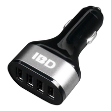 IBD high quality mobile cell phone metal circle fast charge 5V 9.6A Micro 4 USB car charger