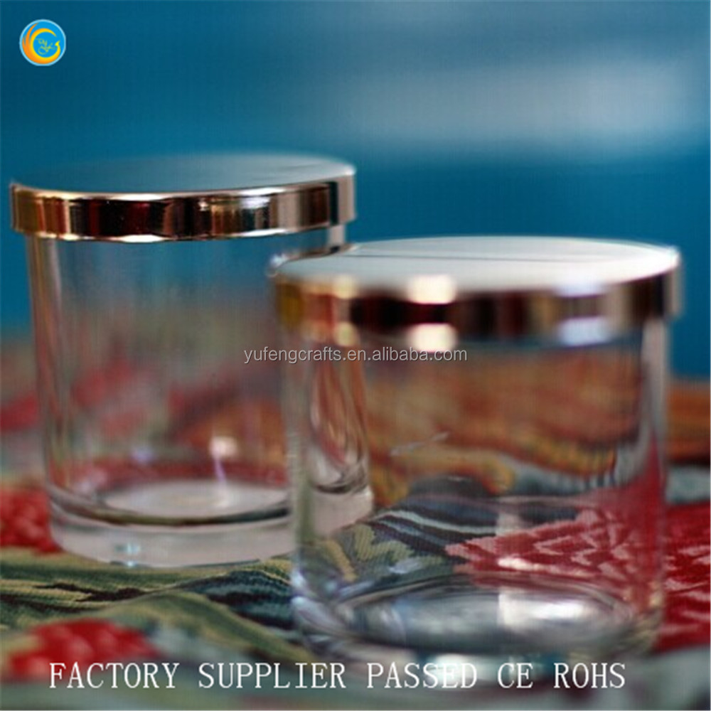 Glass candle holder candle jar with Silver lids 100% payment protection for your covered