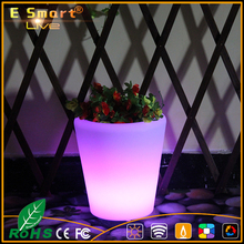 LED illuminato all'aperto vasi di fiori/vaso di luce/light up vaso di fiori