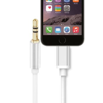 For Lightning to 3.5mm Adapter Cable :Perfect connection 3.55mm headphone cable, dedicated for iPhone 7