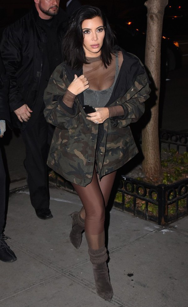 2017 high quality oversize collection kim kardashian army jacket