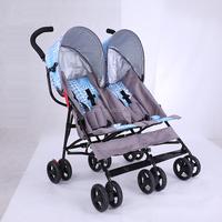 European market best sale high quality stainless steel baby twin stroller