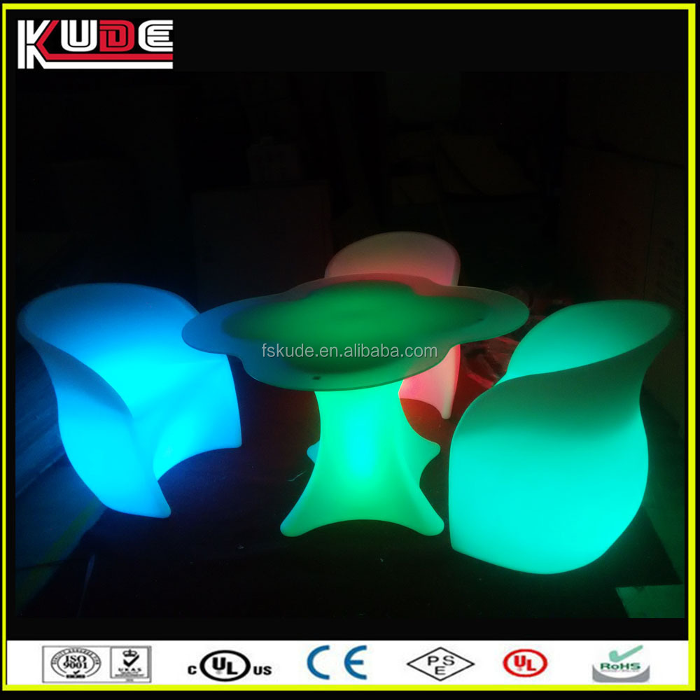 outdoor LED illuminated furniture for garden using