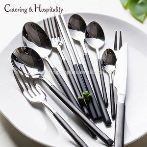 wholesale Stainless Steel China 24 pcs Cutlery Set Hotel Restaurant spoons forks knives Flatware