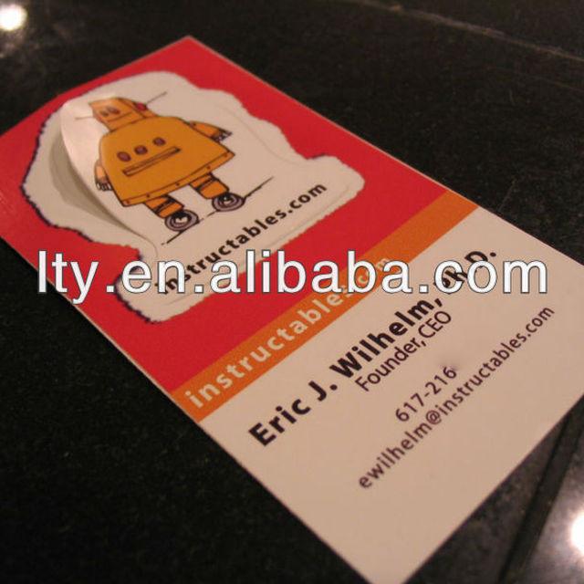 Full colour kiss cut business cards sticker m a165