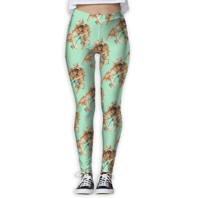 eb541a7c0d Get Quotations · Virgo Fitness Cupid Angel Love Compression Pants/Yoga Pants  Panel Leggings Women