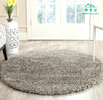 Cool Area Rug Thick Pile Grey Shaggy