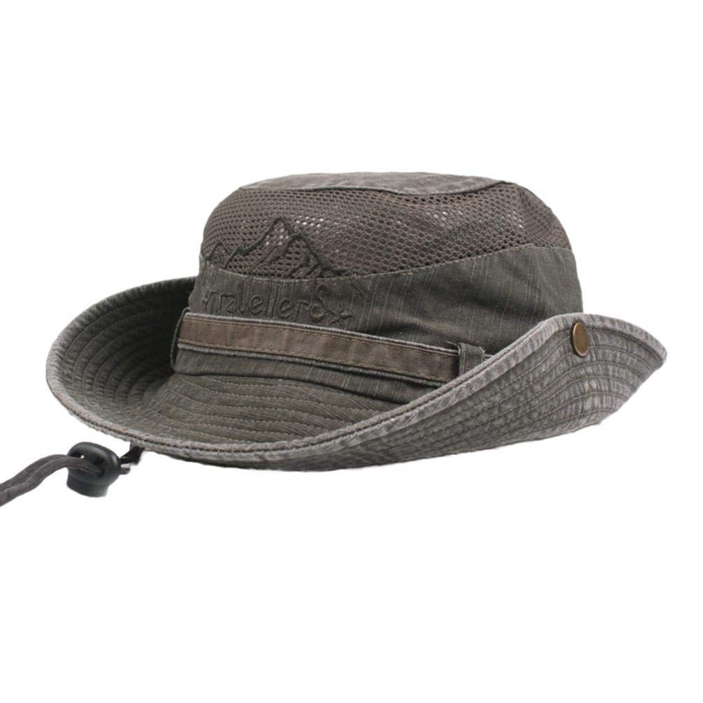 Get Quotations · Fheaven (TM) Mens Cotton Outdoor Climbing Sun Hat  Embroidery Visor Bucket Hats Fisherman Hat c376b6f01a8e