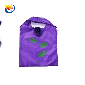 promotional huge storage rose foldable promotional cheap logo shopping bags