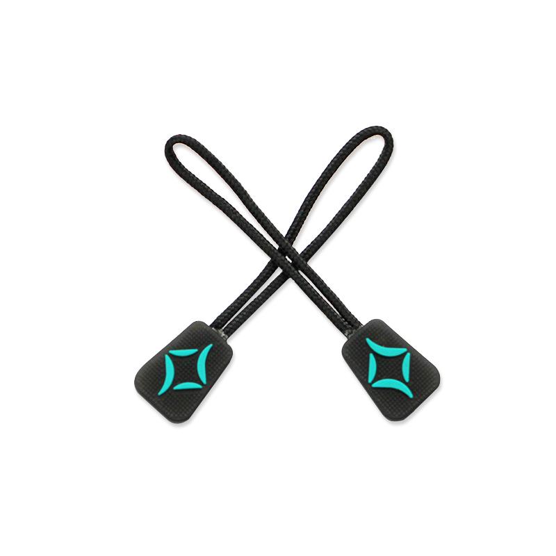 Custom brand logo 3d rubber soft pvc zipper puller, Any pantone color