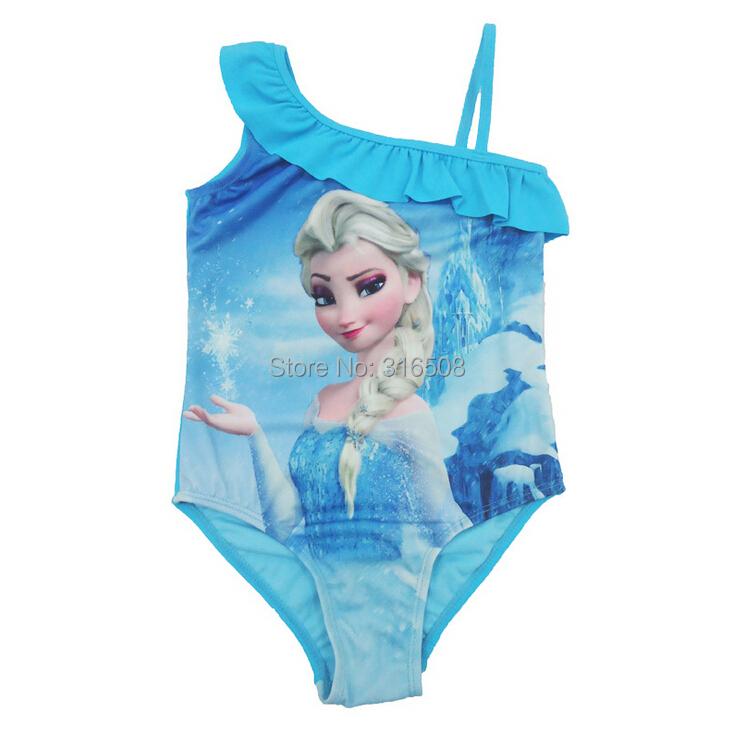 1700199512a7f Get Quotations · Free Shipping 4pcs Wholesale Children Girls Swimsuit  Bikini Wear Elza Baby Girls Kids Swimwear Swimming Costumes