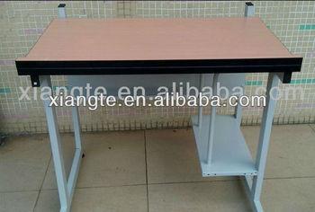 Acier en bois Étude de table designs metal frame hauteur réglable