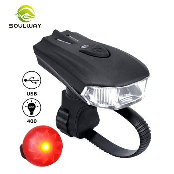 Outdoor Mountain Bicycle Accessories Automatic Light Adaption Safety usb led bike head light