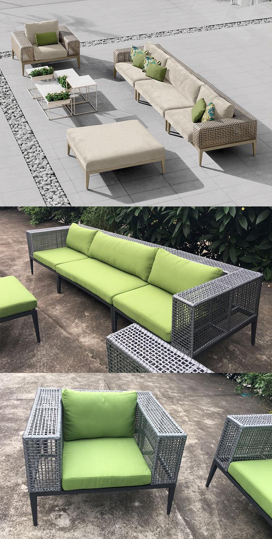 cheap price modern comfortable pe rattan sectional living room l shape sofa furniture