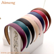 Pure color fabric covered velvet plastic hair bands headband alice band