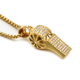 316 L Stainless Steel Gold Color Whistle Pendant Necklace
