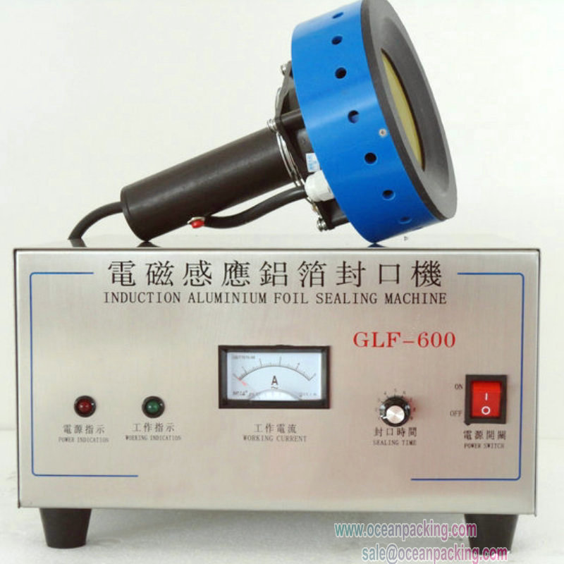 GLF-600 Manual hand held bottle wrapper induction aluminum foil sealer