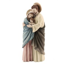 Wholesale custom high quality resin saint holy family catholic religious souvenir statues for sale