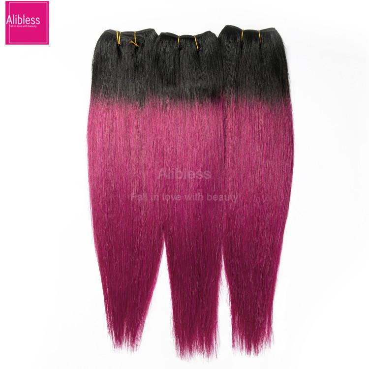 Buy Dark Red Brazilian Hair 3pcs Two Tone Ombre Red Brazilian Hair