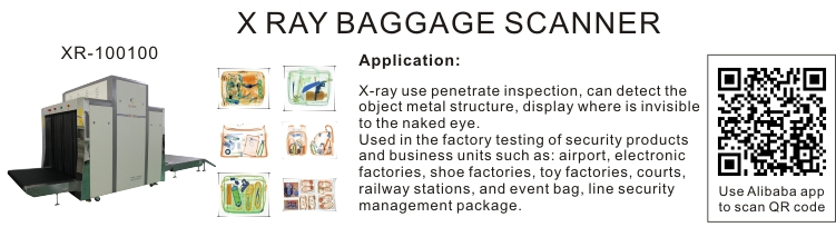 High Performance XR-100100 Most popular railway station x ray baggage scanner for sale
