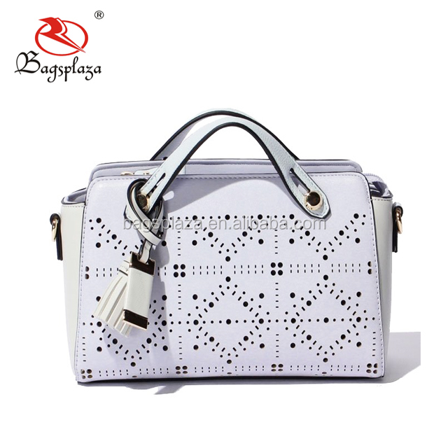 FJ36-017 China suppliers wholesale OEM white PU laser bag flower  embroidered fancy ladies handbags 8900da482db31