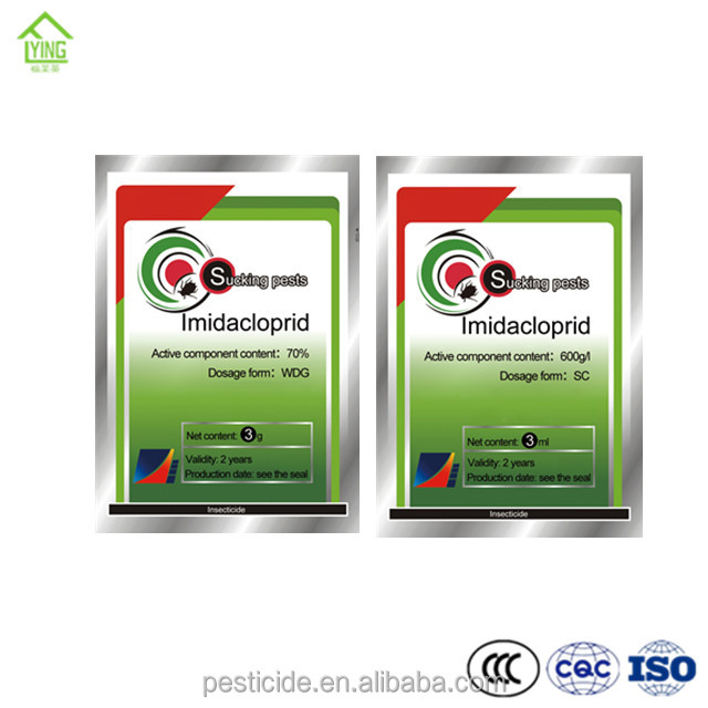 China supplier pesticide, insecticide Imidacloprid 98%TC, 95%TC, 70%WG,, 600g/l SC