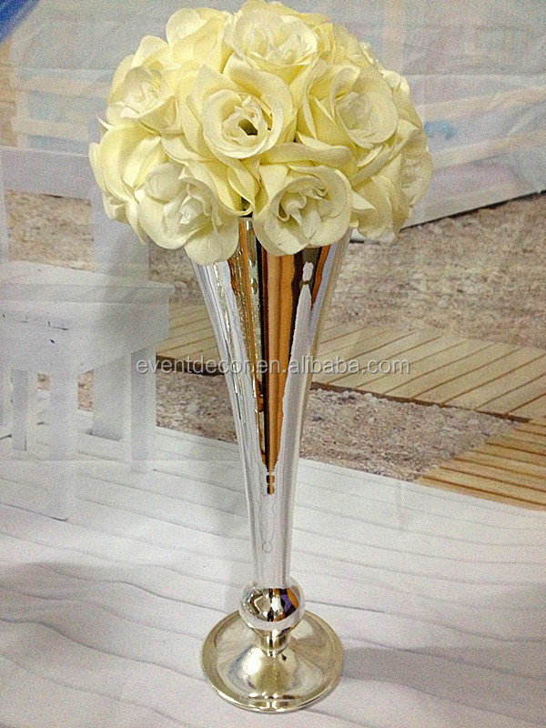 Silver Metal Flower Vase For Decor - Buy Metal Flower Vase,Silver ...