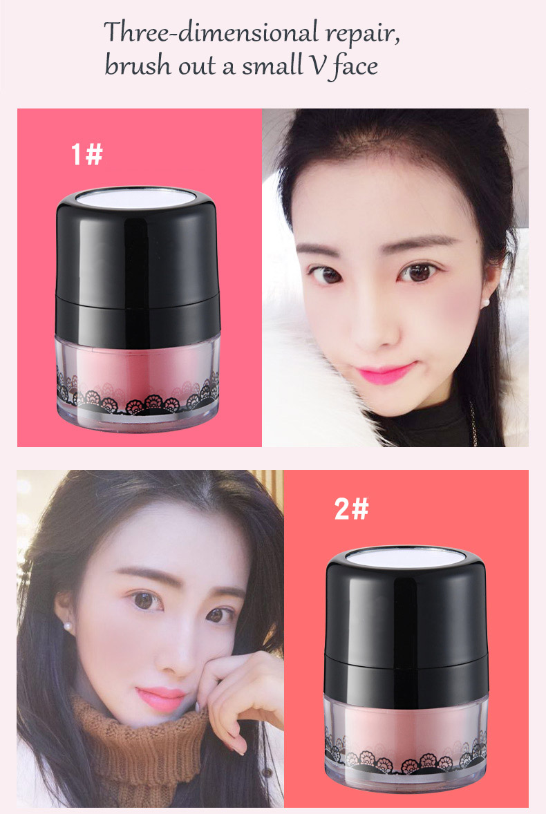 Professional private label   shimmer blush powder for makeup