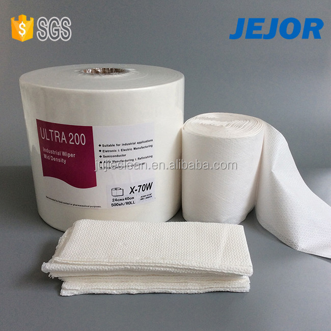 Super Oil Absorption Lint Free Industrial Nonwoven Cellulose Polyester Wipes In Roll