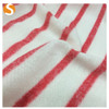 Wholesale Polyester Rayon Hacci Fabric with red pinstripes