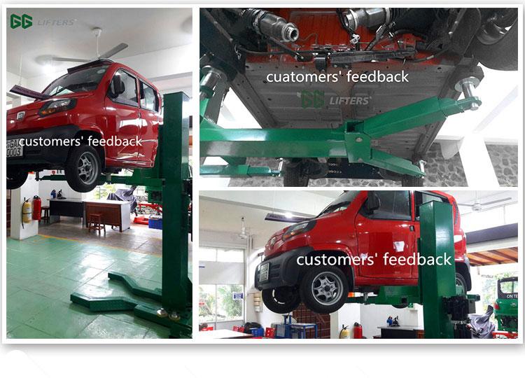 Fabricante chinês Hidráulico Único Post Elevador Do Carro 2.5 t