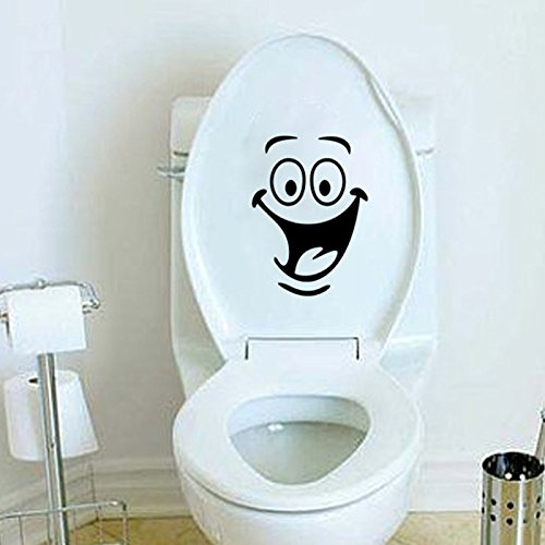 Funnytoday365 Children'S Room Wall Toilet Bathroom Cabinet With Decorative Stickers Animation Seat Toilet Vinyl Wall Decal Art For Kids