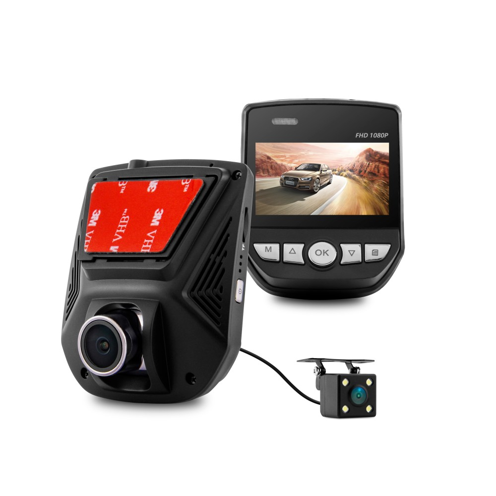 A305D dual lensi dashcam 1080P full HD mini hidden car dash camera for G-sensor loop recording car camera