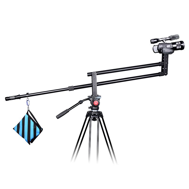 YELANGU J1 Alüminyum Alaşım 2 m Kamera bomlu vinç için DSLR kameralar ve Video Kameralar