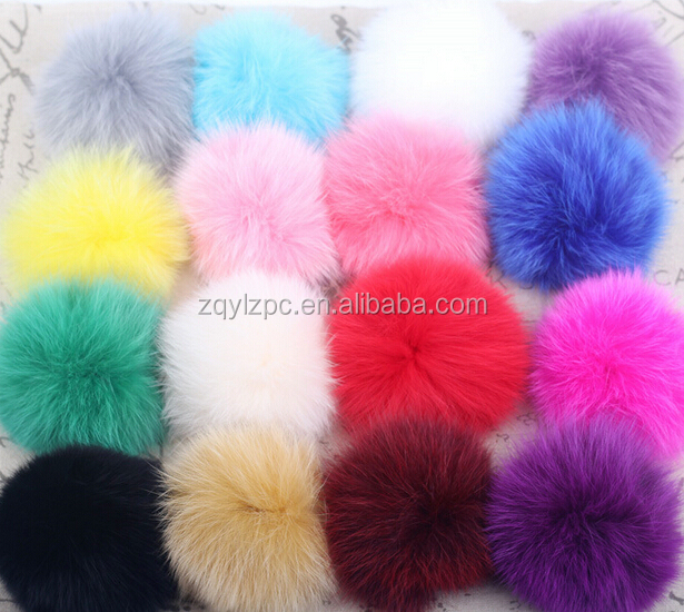 Newest Fashion Fox Fur Ball / Fox Fur Keychain / Fur Pom Pom