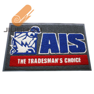 Heavy duty logo door floor mat