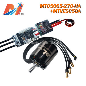 Maytech 5065 270kv brushless motor rc cars 1/10 combo and esc with speed sensors super esc based on VESC for e longboard