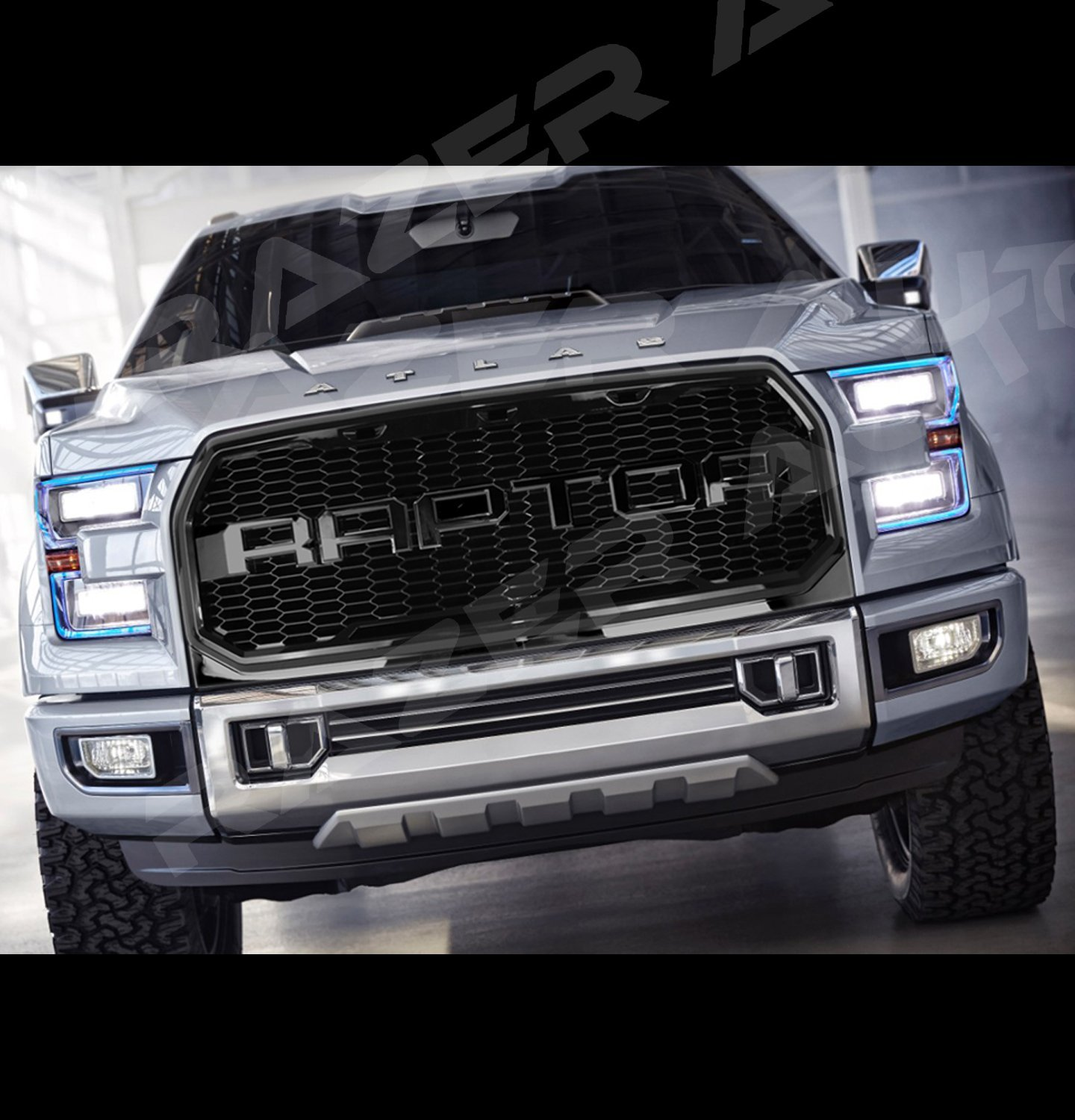 Buy Razer Raptor Style 15 16 2015 2016 Ford F150 Gloss Black Mesh Grille Shell Complete Factory Replacement Grille Shell In Cheap Price On Alibaba Com