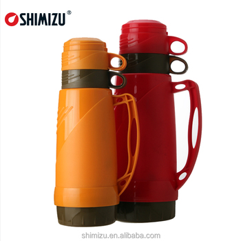 hot sale plastic thermos vacuum flask and glass insulated thermos flask - Glass Thermos