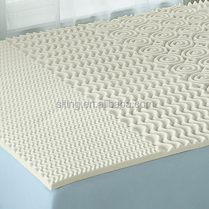 hot sale high quality 5 zones soft 5cm thick comfort memory foam massage mattress bed pad topper