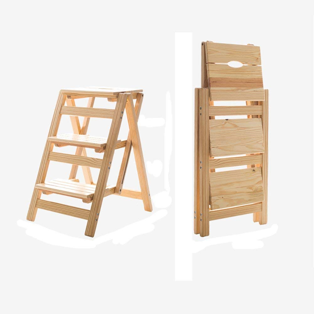 Get Quotations Folding Ladder Chair Indoor Movable Climbing Household Solid Wood Multi Functional Dual Use