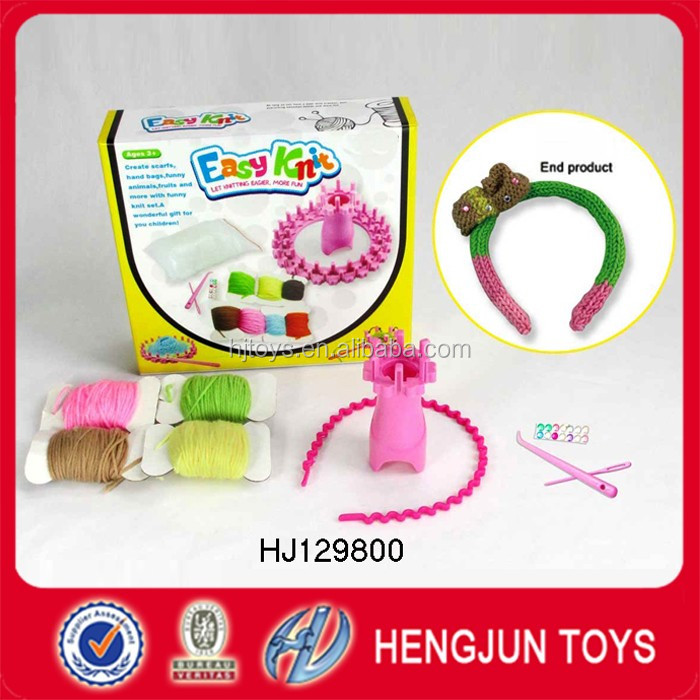 new style toys DIY wool knitting children's hair bands EN71