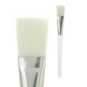 Transparent white plastic handle facial mask brush cosmetic white mask brush