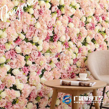 Wall Decor Wholesale Synthetic Artificial Flowers Wall Fake Plant Indoor  Outdoor Decoration