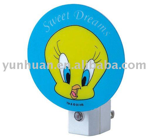 Night light with cartoon ball picture custom designed