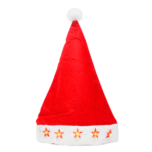 Christmas Party Led Light Christmas Santa Claus Hat For Children