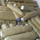 Clearance stocklot rolls of cotton twill small piece fabrics for garments