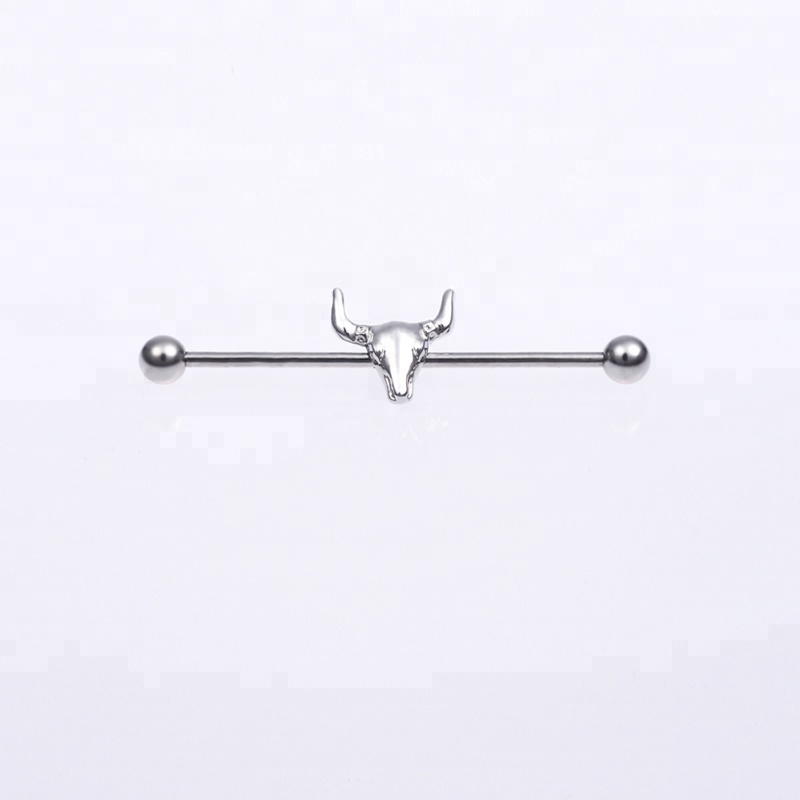 Unique Surgical Steel Bullet Industrial Barbell Earring Jewelry