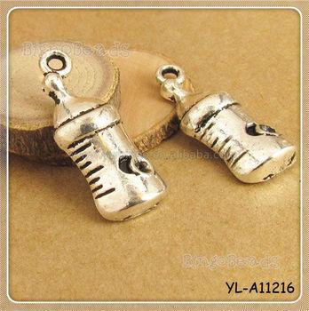 Newborn Baby Bottle Antique Silver Plate Greek Mykonos Casting ...
